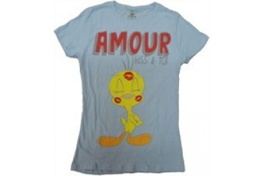 Looney Tunes Tweety Amour Kiss Tell Baby Doll Tee