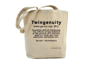 Twin Definitions - Twingenuity Got twins Tote Bag by CafePress
