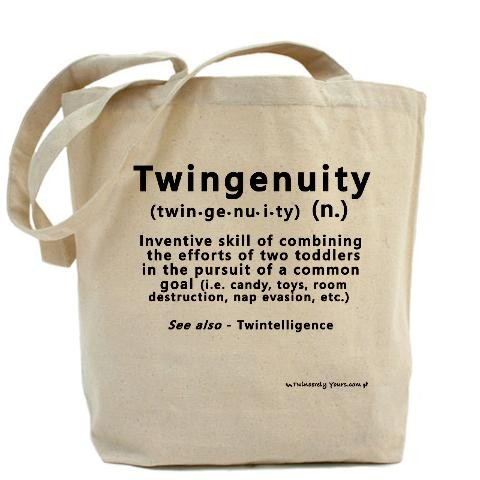 07d722f44 Twin Definitions - Twingenuity Got twins Tote Bag by CafePress ...