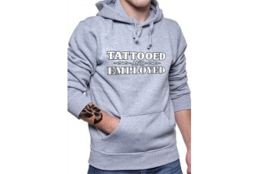 Tattooed and Employed Adult Hoodie