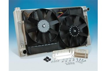 Flex-A-Lite Flex-A-Fit Radiator And Fan Package 52180L Radiator Electric Fan Combination Kit