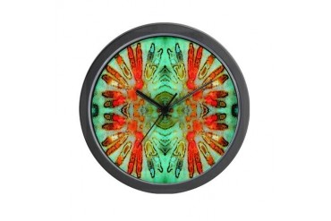 Headdress Abstract Wall Clock by CafePress