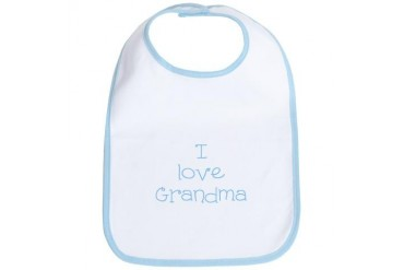 I Love Grandma Baby Bib by CafePress