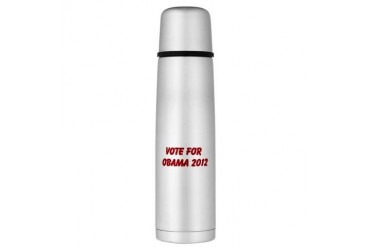 Large Thermos Bottle Obama Large Thermosreg; Bottle by CafePress