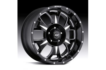 BMF Wheels M-80, 17x9 with 5 on 5 Bolt Pattern - Death Metal Black and Machined 462B-790512712 BMF Wheels