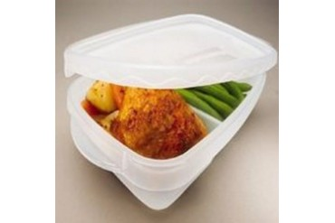 8 Pack Rubbermaid 7F57Retchil Divided Rect. Takealong