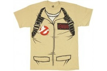 Ghostbusters Dr. Peter Venkman Costume Double Sided T-Shirt