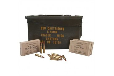Lake City/Twin Cities 5.56mm M196 Tracer Rifle Ammunition - M196 Tracer Ammunition 820 Rds/Can
