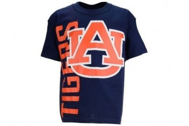Auburn Tigers NCAA New Agenda Go Large Navy Youth Tee New With Tags