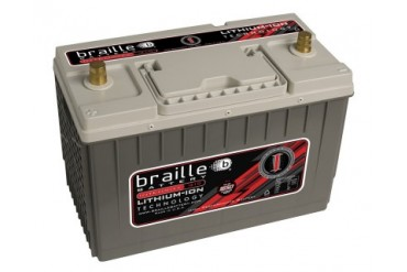 Braille Lithium Ion Intensity Deep Cycle Battery 1650 Amp 13 x 7 x 9 inch Left Positive BCI 31