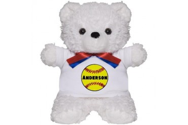Personalized Softball Teddy Bear