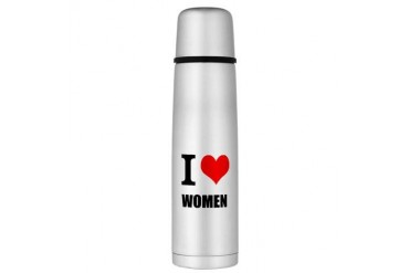 I Love Women Large Thermos Bottle Love Large Thermosreg; Bottle by CafePress