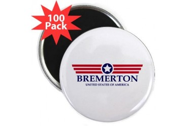 Bremerton Pride Location 2.25 Magnet 100 pack by CafePress