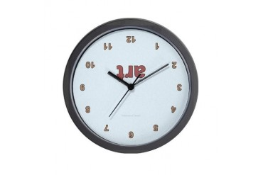 Upside Down Art Funny Wall Clock by CafePress