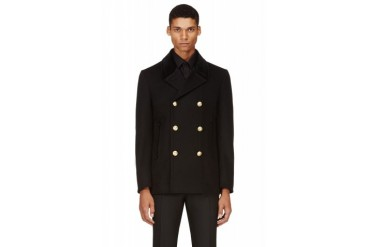 Marc Jacobs Black Wool Classic Peacoat