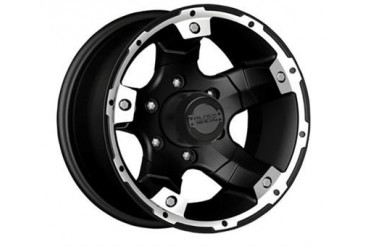 Black Rock Wheels 900 Viper, 15x8 with 6 on 5.5 Bolt Pattern - Matte Black 900B586037 Black Rock Wheels