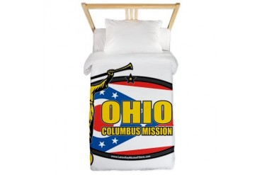 Ohio Columbus LDS Mission Clothing T-Shirts and Gi Gifts Twin Duvet by CafePress
