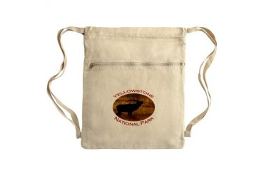 Yellowstone National Park...Elk Bugle and Steam Sa Funny Cinch Sack by CafePress