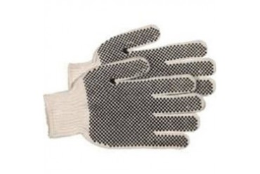 12 Pack Boss Mfg Co 5522 Glove White Knit W Pvc Dots Rv