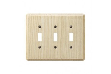 3 Pack Amertac Westek Amerelle Wood Switch Wall Plate
