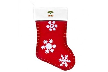 Santa's Coming Christmas Customized Felt Christmas Stocking by CafePress