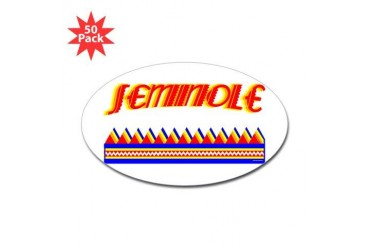 SEMINOLE TRIBE Native american Sticker Oval 50 pk by CafePress