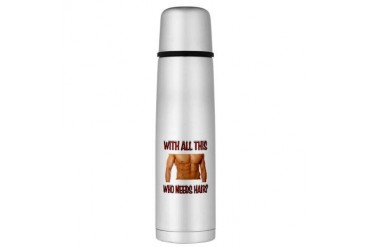 HAIR.jpg Large Thermos Bottle Sports Large Thermosreg; Bottle by CafePress