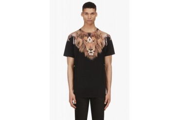 Marcelo Burlon County Of Milan Black And Tan The King Lebron James Edition T shirt