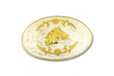 Buckle Shack XL Horsehead Gold and Silver