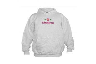 Pink Daisy - Lindsey Cute Kids Hoodie by CafePress