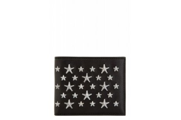 Jimmy Choo Black Star Studded Mark Bifold Wallet