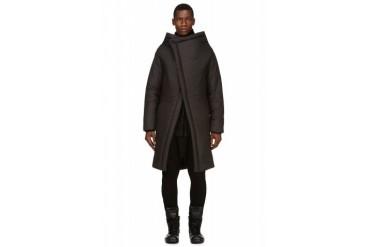 D.gnak By Kang.d Black Layered Asymmetrical Parka