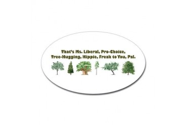 That's Ms. Liberal Oval Sticker
