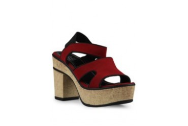 FLY Delia Wedges Sandals Band 1 Red