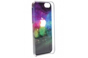 Apple with Colored Background iPhone 5 Case