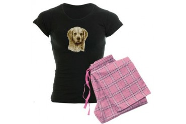 Golden Retriever Dog Women's Dark Pajamas by CafePress
