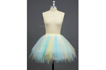 Women/Girls Tulle Netting/Polyester Short-length 3 Tiers Petticoats (037033978)