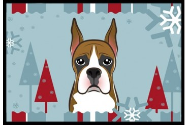 Winter Holiday Boxer Indoor or Outdoor Mat 24x36