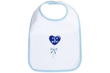 Its A Boy Baby Bib by CafePress