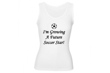 Growing A Future Soccer Star Funny Women's Tank Top by CafePress