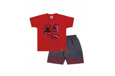 Infant Toddler Boy Short Sleeve T-Shirt amp Shorts 2pc Outfit 1-3Y