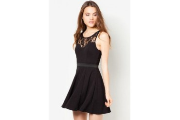 Material Girl Lace Illusion Dress