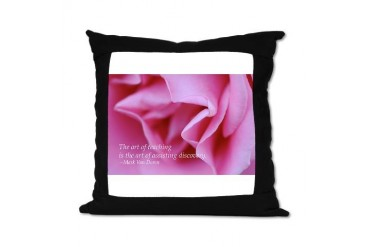 Pink Rose Quote Suede Pillow by CafePress