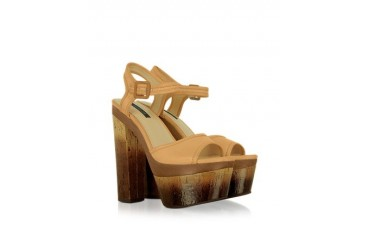 Evelyn - Leather Platform Sandal