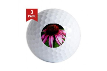 .echinacea. Nature Golf Balls by CafePress