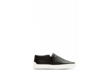 Rag And Bone Black Perforated Kent Slip on Shoes