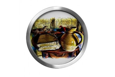 Early Colonial Still Life Antique Modern Wall Clock by CafePress