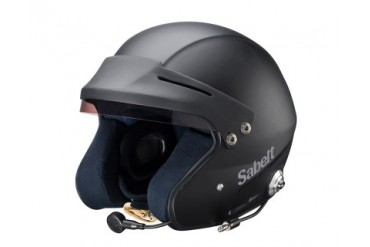 Sabelt Helmet Series RH-310 Snell SA2010 Rated with Intercom Black - XXL
