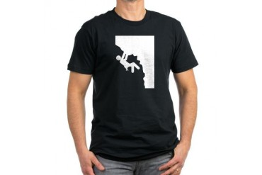 Rock Climbing Sports Men's Fitted T-Shirt dark by CafePress