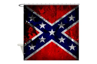 Confederation Flag Vintage Shower Curtain by CafePress
